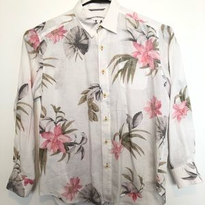 Tommy bahama Hawaiian linen long sleeve shirt